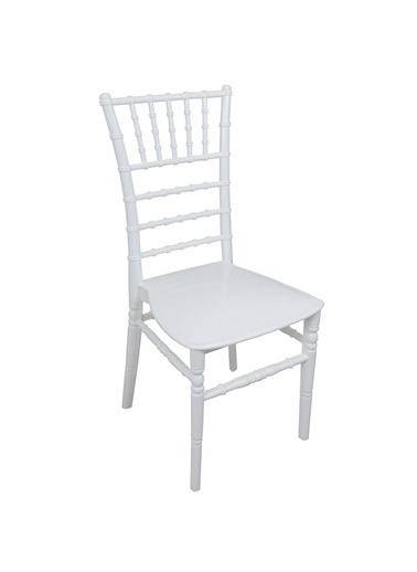 Mandella Silver Sandalye Tifany (6 adet) Beyaz